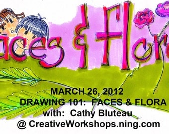 DVD workshop :  Drawing Faces and Flora 101