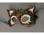 Leafy Cat - Leather Mask