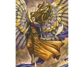 ORIGINAL - Wisdom - Angel Watercolor Painting
