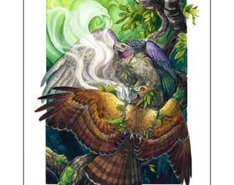 Ceremony - Fantasy Hawk Print