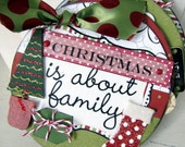Upcycled CD Mini Scrapbook Album - Family Christmas