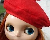 Red Blythe Beret - Blythe Doll Hat