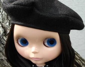 Black Blythe Beret - Blythe Doll Hat