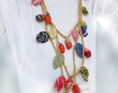 Funky Crocheted Necklace