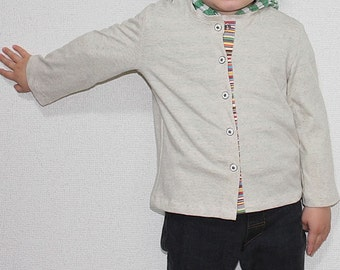 PDF e Pattern - Kids knit cardigan for 3 sizes for 3y, 4y and 5y - Baby and kids
