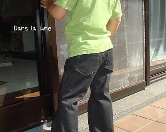 PDF e pattern - Kids boots cut pants - trousers size 1Y