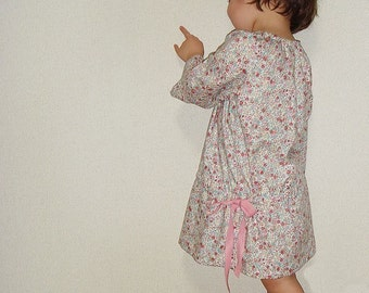 PDF Sewing Pattern - Smock dress for 1Y to 3Y for 3 sizes - Baby and kids