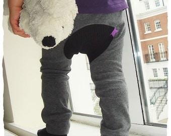 KIDS TROUSERS - PDF e pattern - Monkey Spats / leggings - 2y