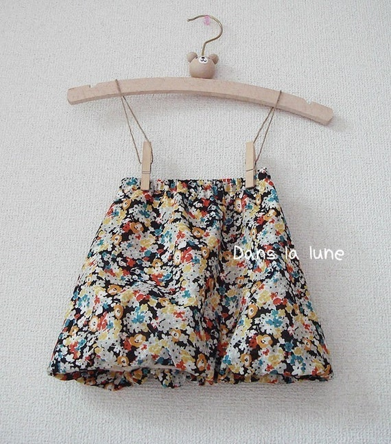 PDF e Pattern - Balloon skirt for Kids - Size 1Y to 4Y for 4 sizes