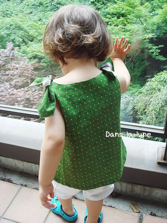 PDF e pattern for girl flower top - 1Y - baby and kids