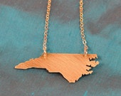 Petite GOLD-Filled North Carolina Necklace--Solid