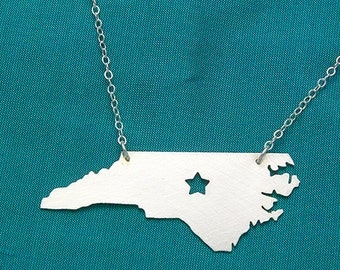 Bright Star--NC Necklace with a Star cut out sterling silver