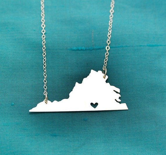 Virginia with Heart over Mecklenburg County-one of a kind