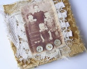 Fabric and Lace Decorated Note Book