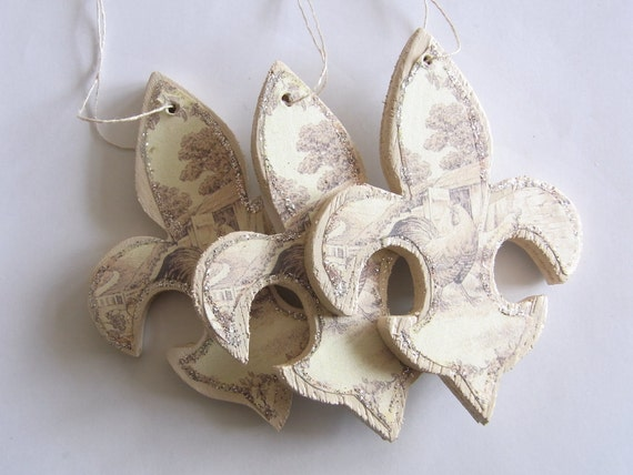Fleur-De-Lis Ornaments - STUDIO SALE