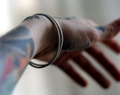 Mortalitas // two sterling silver bracelets
