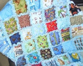 I Spy with my little eye Funny baby boy rag quilt