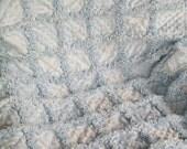 So Soft Blue minky baby boy rag quilt 32x41