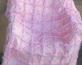 Sweet and soft Adult blanket/throw/decor/ All pink minkee blanket