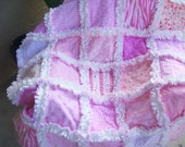 All Pink and chenille Sweet and Soft baby girl security rag quilt