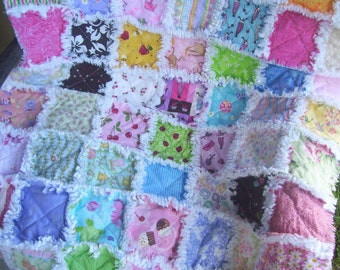 I Spy with my little eye Funny baby girl rag quilt