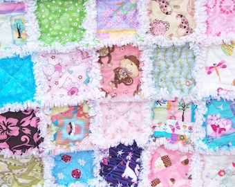 I Spy with my little eye Sweet and Soft baby girl security rag quilt