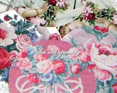Stickers Vintage Barkcloth Pink Roses  Images