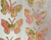 Vintage Wallpaper Butterfly Stickers
