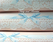 Vintage Cottage Lace and Ribbons Wallpaper Pack