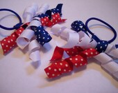 4th of July Korker Pony O Pair red\/white\/blue