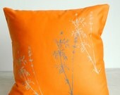 Pillow Cover Only-Orange Laminaria print