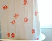 RESERVED FOR Tanya Shower Curtain Made from Unbleached Canvas with Coral Red Algae Print