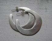 Freestyle Sterling Silver Hoops medium