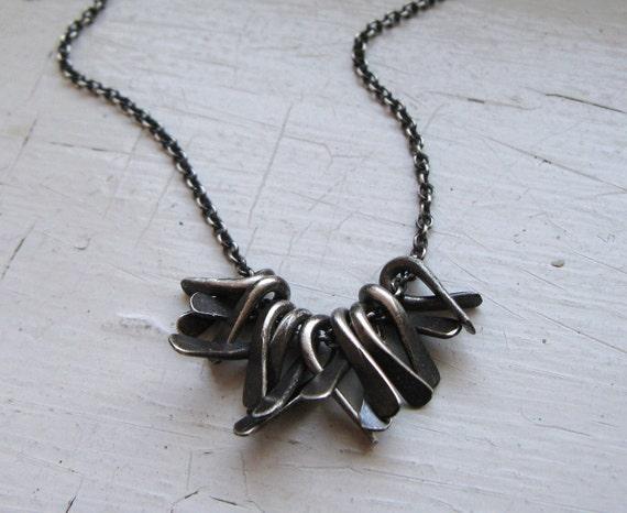 SUPER SALE Sterling Silver Knotty Necklace