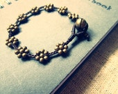 Antique brass TOUCH - Flower Bracelet (Small wrist) LAST ONE
