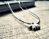 SILVER TOUCH - Rustic Sterling silver Elephant Necklace