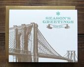 Season's Greetings from NYC, Brooklyn Bridge, set
