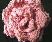 Rose Pink Knit Cotton Dishcloth