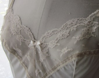Vintage ivory lace, Kayser, Cami, pin up girl, vintage lingerie, camisole