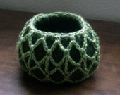 Felted Bowl with Crocheted Overlay
