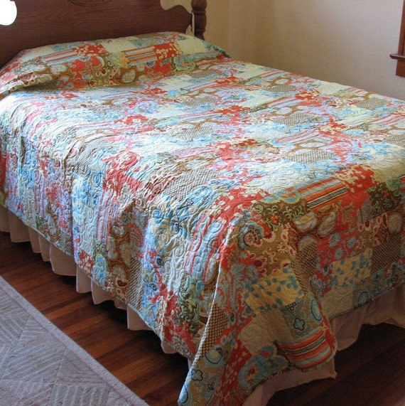CLOSING SALE 50% OFF  Belle Stacked Bricks queen/king Quilt