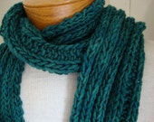 Dude Scarf man scarf boyfriend scarf hand knit scarf wool scarf long scarf green scarf emerald green for him for dad scarves for men