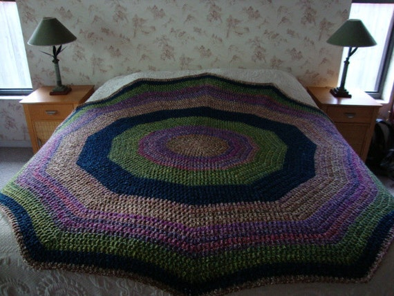 Crochet Queen Size Blanket : Items similar to MADE TO ORDER Crochet Afghan queen size afghan ...