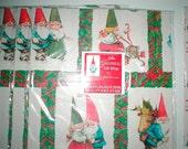 Vintage Gnome Gift Wrap