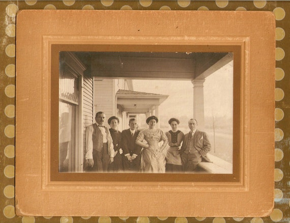 Antique Cabnet Photo 'The Meyers Bunch' add to a collection or use in your art and crafts