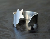 Corgi Fine Silver .999 Wrap Dog Ring