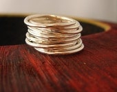 Simplicity sterling silver ring - skinny band - perfect for layering