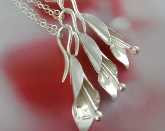 Calla lily sterling silver necklace - bridesmaids gift, Valentines Day, Mothers Day