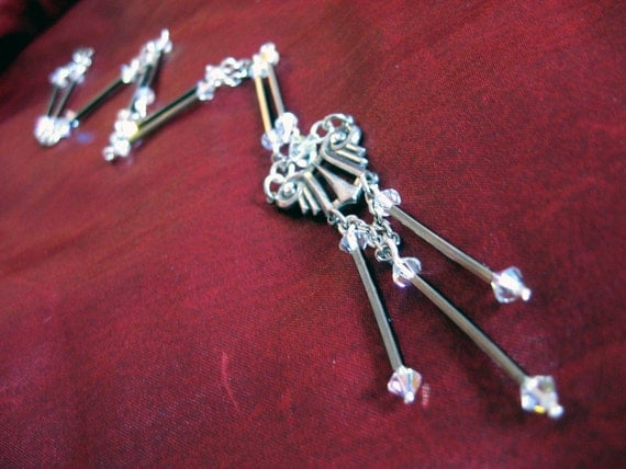 Elegant Deco -  Genuine Swarovski Crystal Necklace