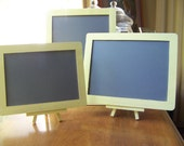 Reserved listing for Jackie-3 Shabby Chic/Rustic Chic Wedding Chalkboards with 2 Easels